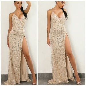 Dresses & Skirts - Open Back Sequin Dress